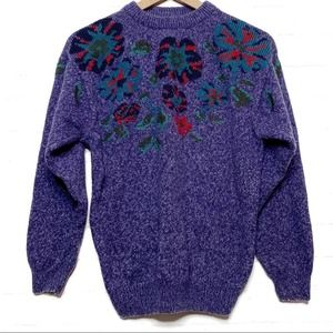 Vintage Northern Reflections Wool Floral Sweater